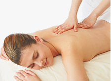 Aging care oil massage with an extra virgin oil