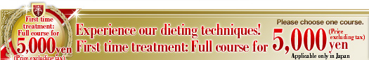 Experience our dieting techniques!